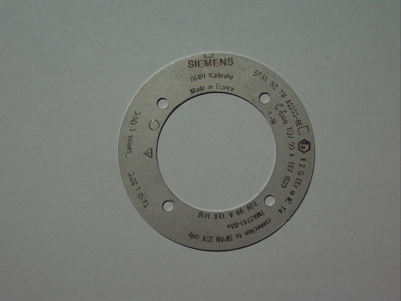 Marquage rondelle inox